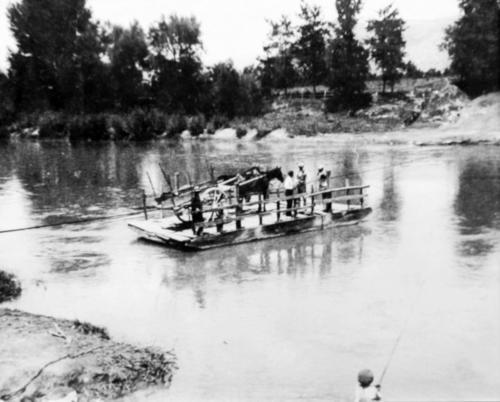 Attraversamento del fiume Volturno -Località Scafa
