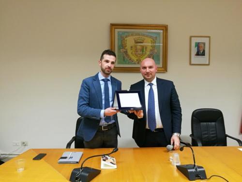 il giornalista Vincenzo Rubano e il Sindaco Domenico Parisi