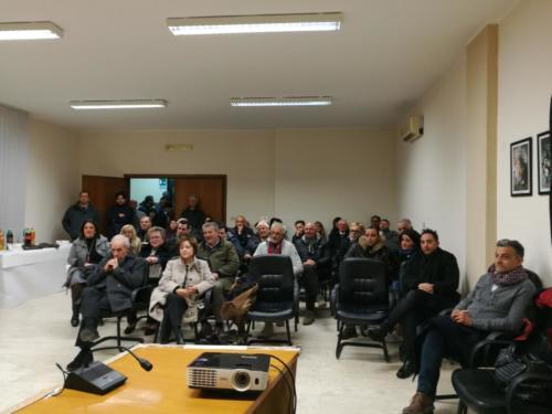 il pubblico intervenuto, in prima fila, a destra l'Assessore alla Cultura Massimiliano Marotta